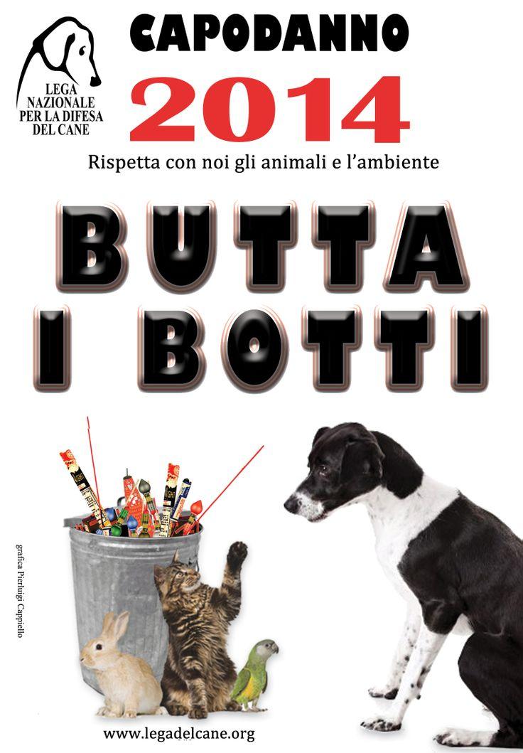 #Capodanno | I #cani, i #gatti e i piccoli animali domestici si spaventano quasi a morte per i botti nella notte di San Silvestro: quest'anno #ButtaiBotti! | #campagne #2011 #2012 #2013