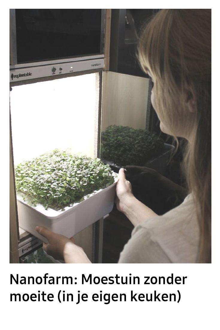 Geen tuin, geen groene vingers of geen tijd, maar toch graag verse groenten zonder pesticiden? De Nanofarm is de ideale moestuin: je hebt er weinig ruimte voor nodig, hij kan in je keuken staan en je hoeft helemaal niets te doen voor die heerlijke verse groenten. Hoe werkt het?