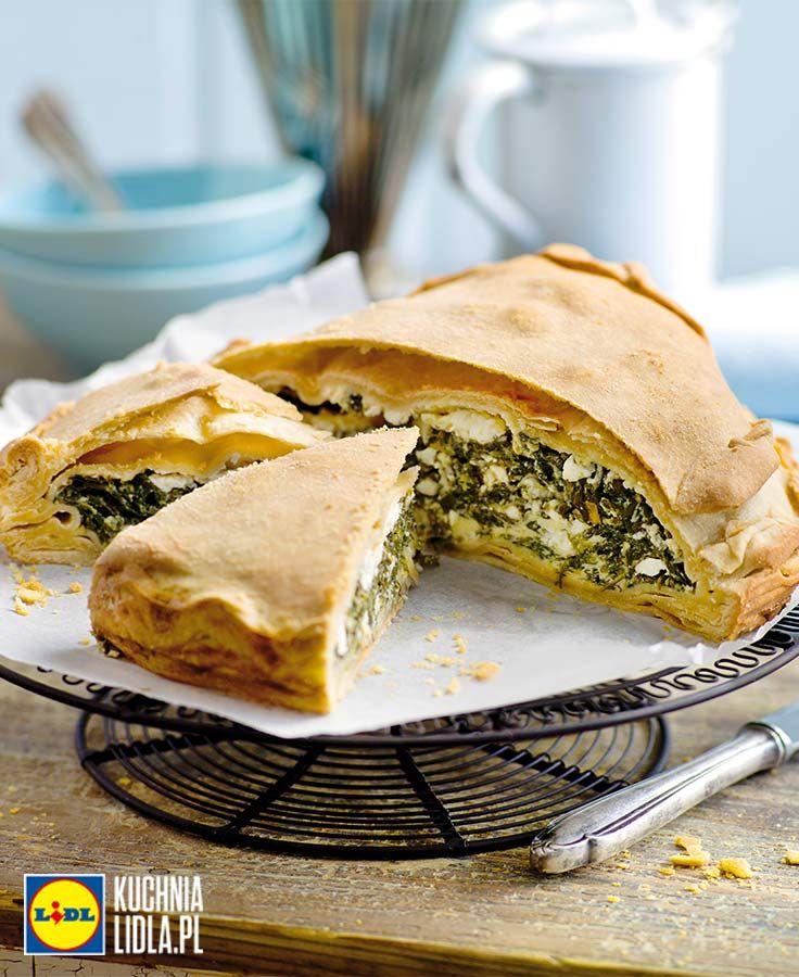 Spanakopita - tort z fety i szpinaku. Kuchnia Lidla - Lidl Polska. #kuchniagrecka #tort