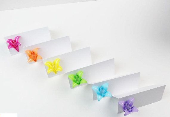 set of 12rainbow wedding place cardrainbow by dmgeshop on Etsy, $10.80 - YOU CAN CUSTOM COLORS
