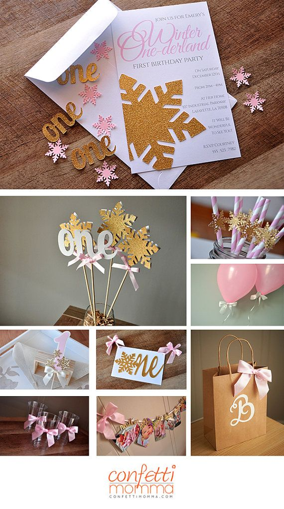 Confetti Mommas Pink and Gold One Confetti Mix is rich in color and quality. Use it to stuff your birthday invitations, decorate tables,