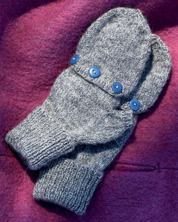 Hold hænderne varme med disse smarts vanter med klap.
