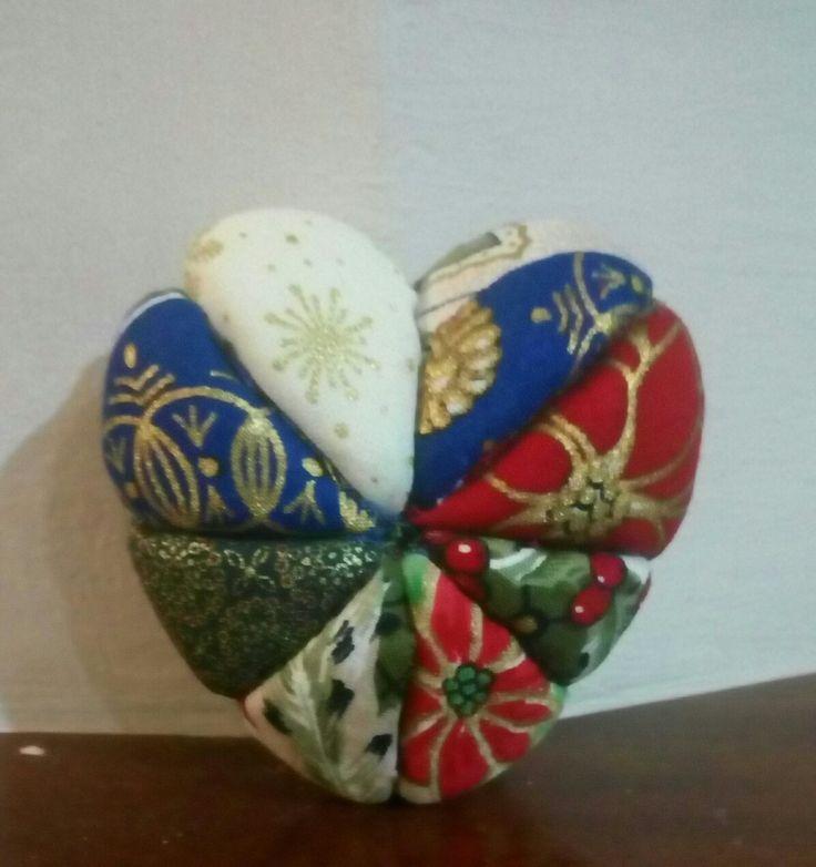 Corazón de patchwork sin aguja