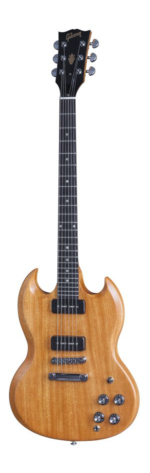 Gibson SG P-90 in natural finish.