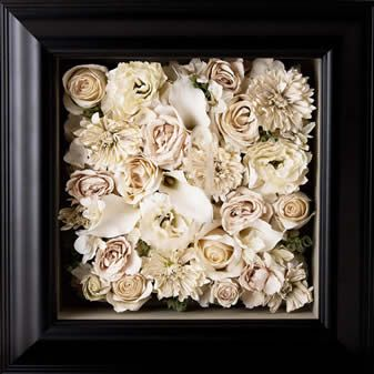 Preserved, framed wedding bouquet - Sasha's in Dayton, OH