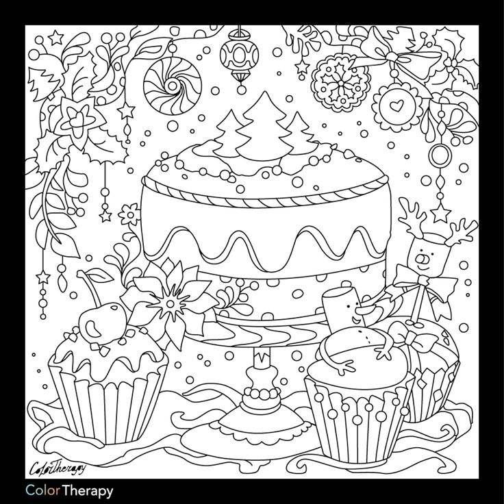 Coloring pages for adults app ~ 77 best images about Cupcakes + Cakes Coloring Pages for ...