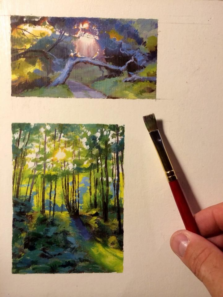 Gouache Landscape With Images Gouache Art