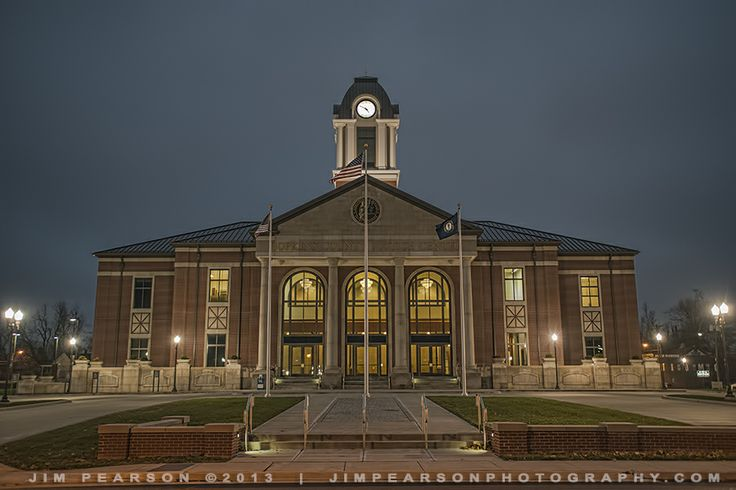 "November 22, 2013 – This month's photographic challenge topic is ""Dusk to Dawn."" Tonight's capture is of the Hopkins County Justice Center in downtown Madisonville, Ky. Please feel free to share! This image was shot with my D800 on RAW. Exposure info: 1/80 sec f/2.8 at ISO 1600 with a Sigma 24-70mm Lens at 34mm."