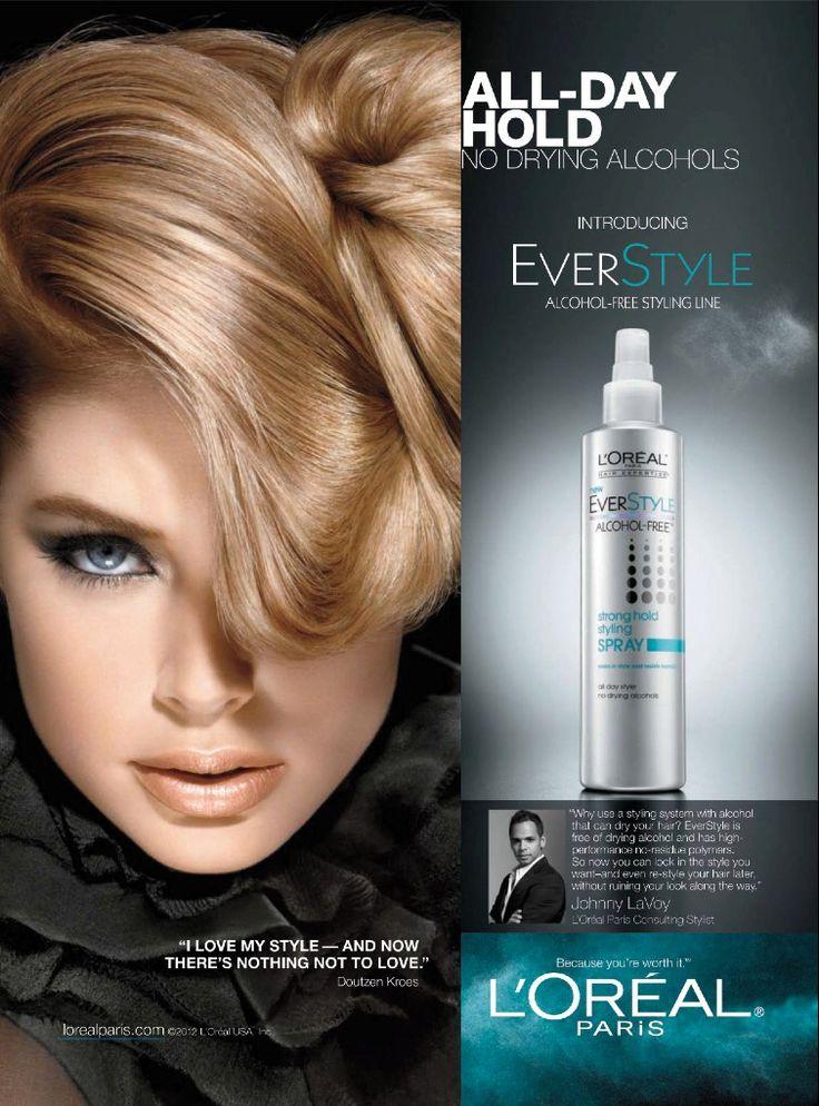 L'Oréal Paris HairCare Advertising with Doutzen Kroes