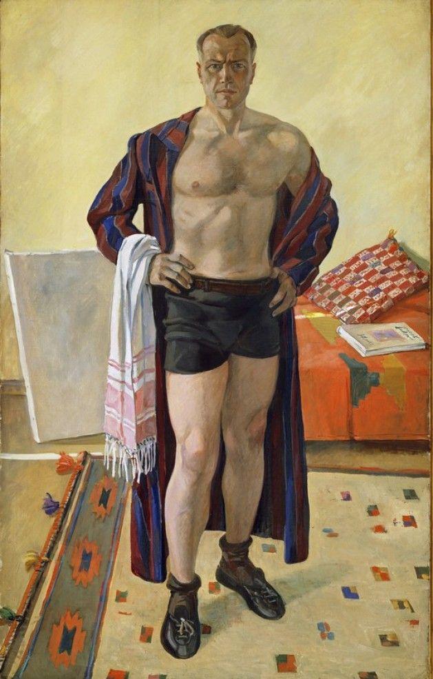 Self Portrait, 1948 by Alexander Deineka, (Russian 1899-1969).....Aleksandr…