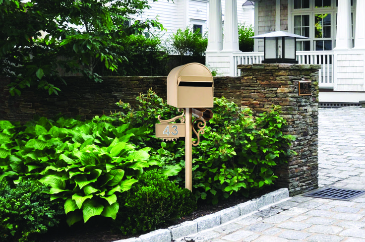 Sandleford Sorrento Post Mounted Cream #Letterbox #postbox #mailbox