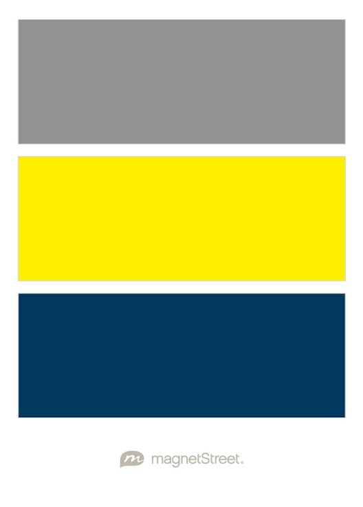 Classic Gray, Classic Yellow, and Navy Wedding Color Palette - custom color palette created at MagnetStreet.com