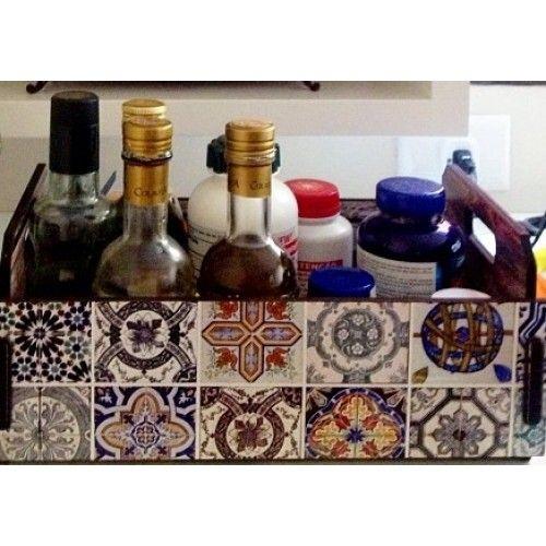 Caixote Fruteira Azulejo Português