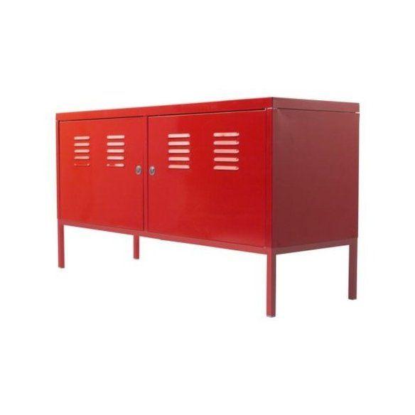 Red Metal Cabinet IKEA PS 5 School Locker w/Keys —