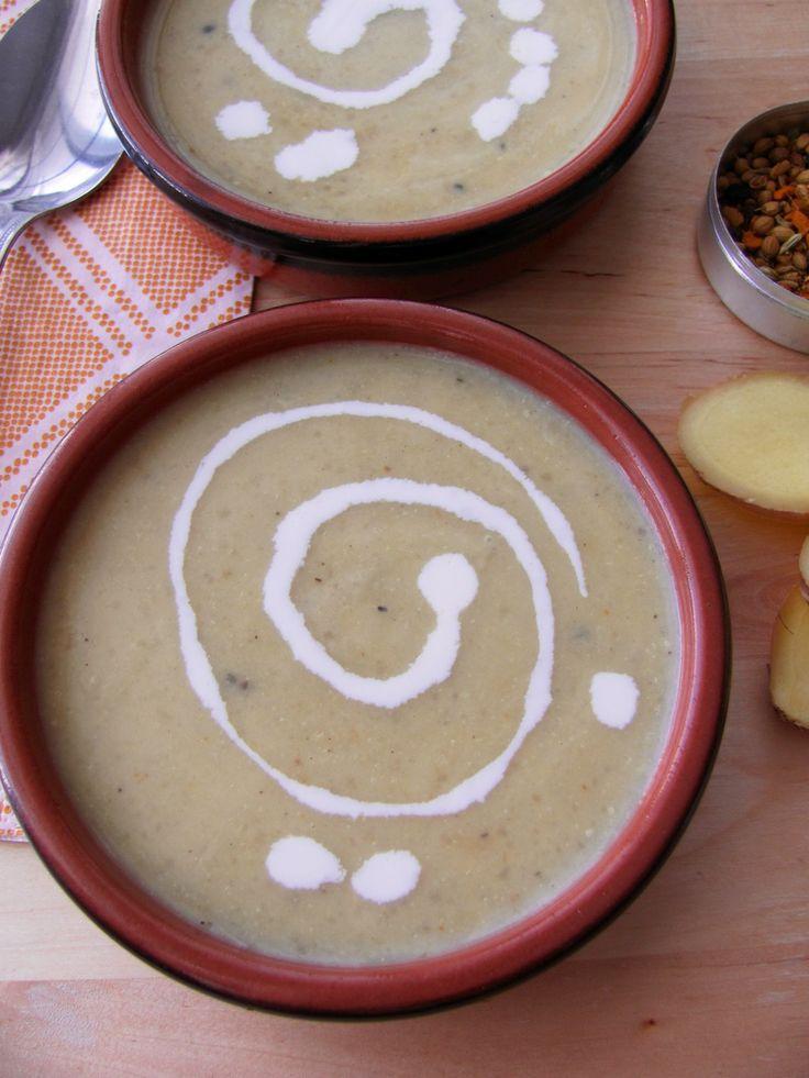 Soupe chou-fleur, gingembre et cari_Mes tergiversations