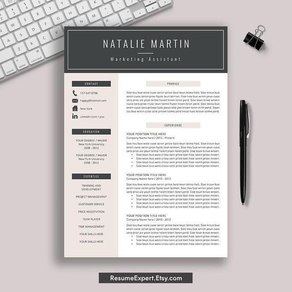 Resume Template For Word Cv Template Modern Resume Etsy In 2021 Downloadable Resume Template Resume Template Professional Simple Resume Template