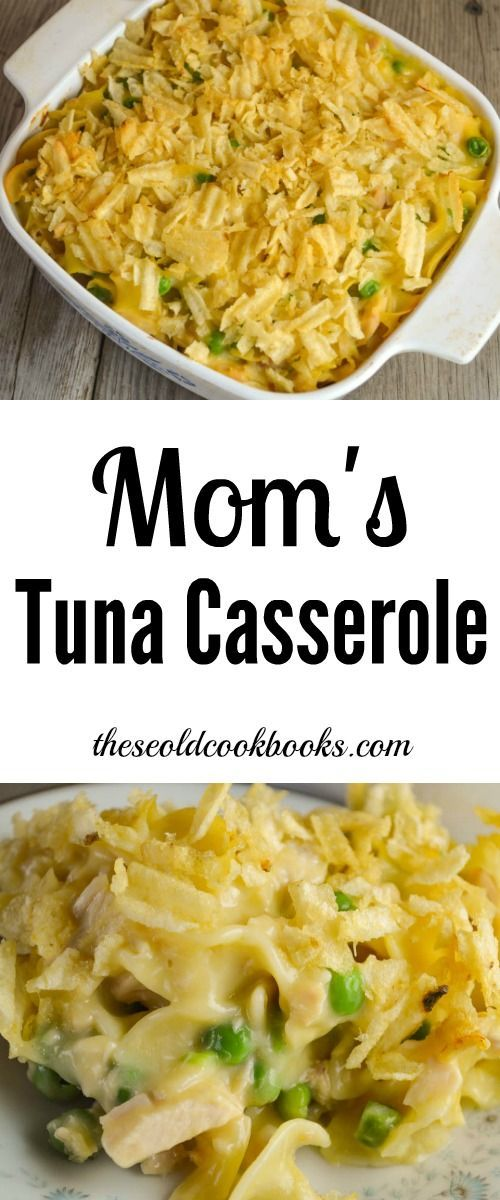 Mom's Tuna Casserole topped with crumbled potato chips is one of those classic dishes that was on every dinner table across the country back in the day.