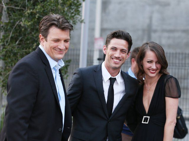 Amy Acker, James Carpinello and Nathan Fillion at event of Much Ado About Nothing (2012)