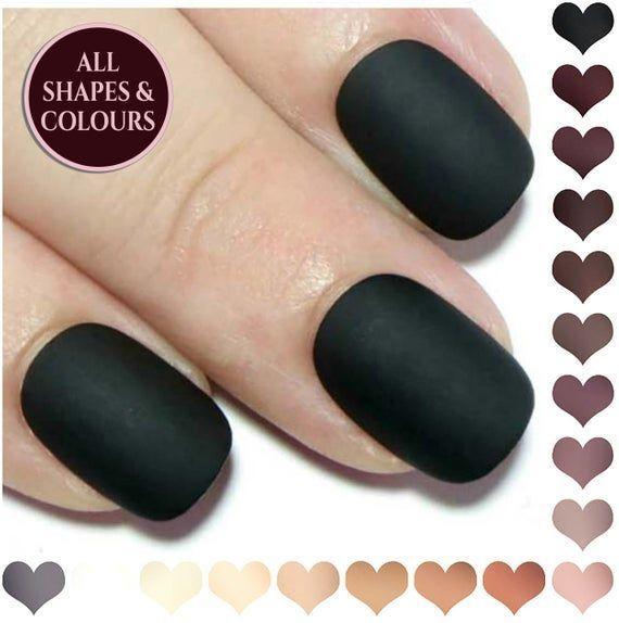 #acrylic #press #nails #short #matte #fake – summer-nails-oval – – Nageldesign