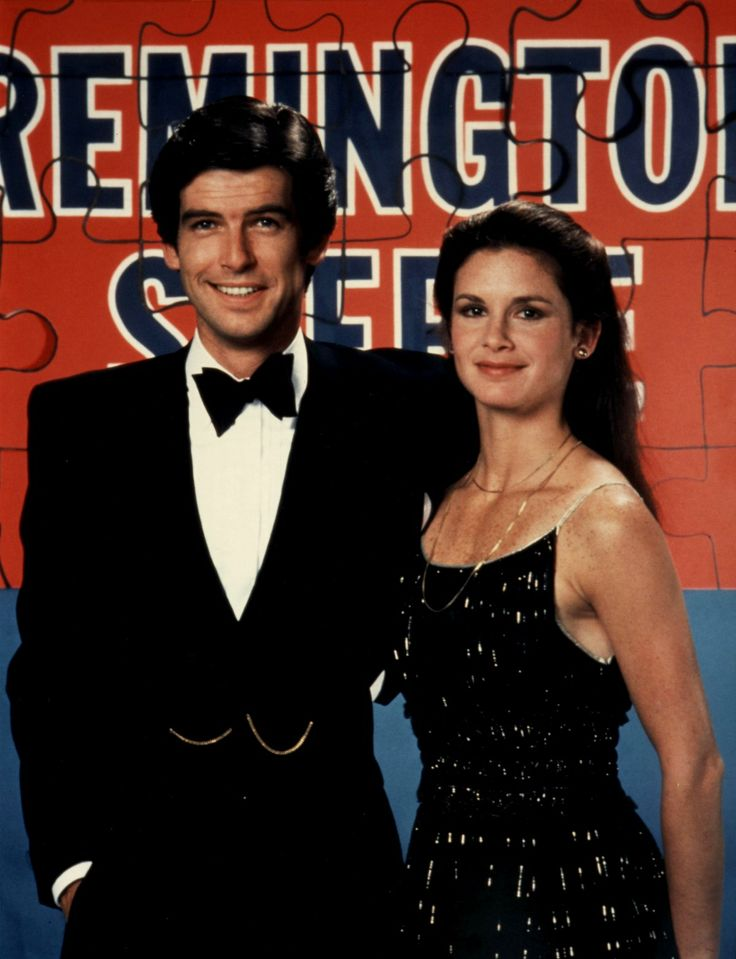 "Pierce Brosnan and Stephanie Zimbalist as: Remington Steele and Laura Holt.  Promo Pic form Season 2: ""Steele Away With Me"""