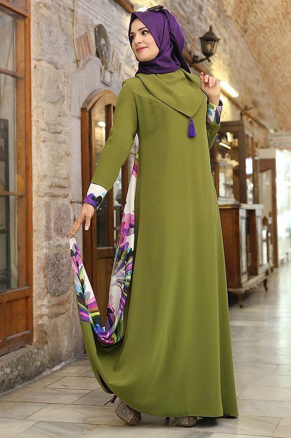 Yeşil Abaya Elbise