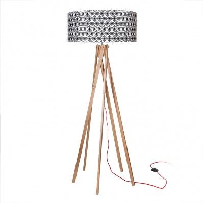 Five Point Floor Lamp - Geometric Shade