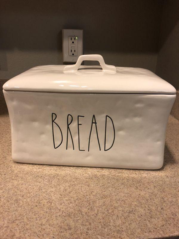 Rae Dunn Inspired Bread Box Canister Large Letter Engraved For