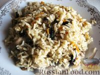 Фото к рецепту: Грибной рис