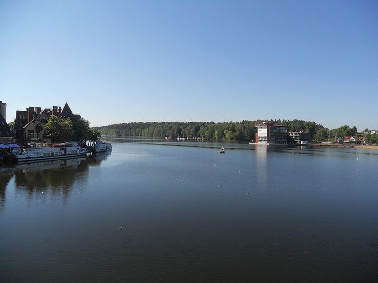 This #photo was taken at the bridge and shows the Mikolajki's lake.