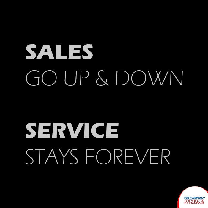 Sales Go Up and Down, Service Stays Forever #HotelDreamway #BestHotelsAtMorniHills #Travel #HotelBooking #TravelTips #TravelIndia #BudgetHotelsNearMorniHills #ResortMorniHills
