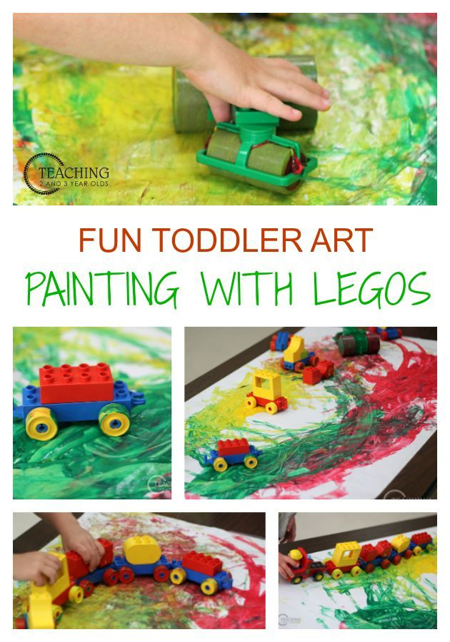 easy toddler art activity using legos - Color Games For 2 Year Olds