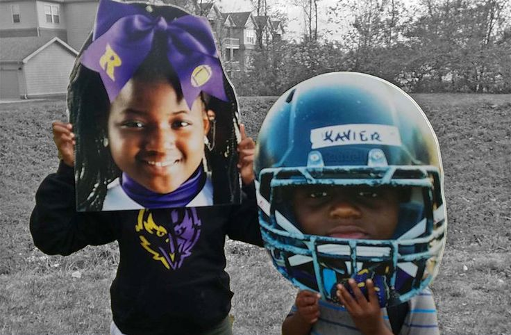 Football & Cheerleading Big Head Cutouts! Perfect to cheer on your little star and great for photo opportunities! Order now and we ship the next day.