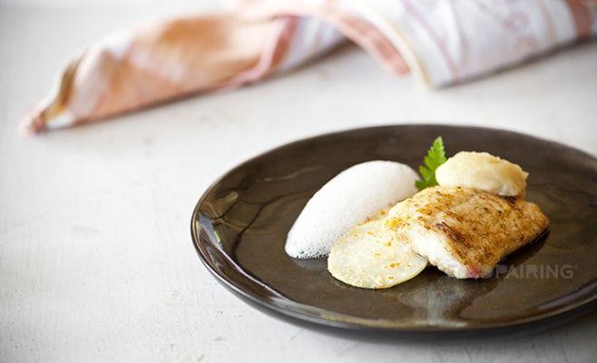Plaice - celeriac - apple - lemongrass - hazelnut
