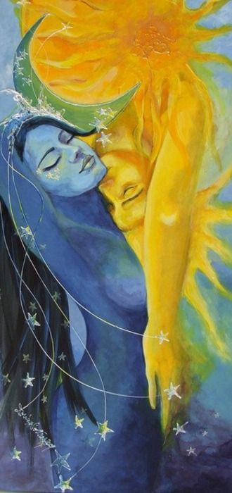"""You are the endless Love. You are the heavenly song. You are the mother and father. You are the one I will always know."" —Rumi (Art: ""Lovers"" by Dorina Costras) ..*"