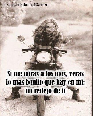 Imágenes de mujeres en moto con frases