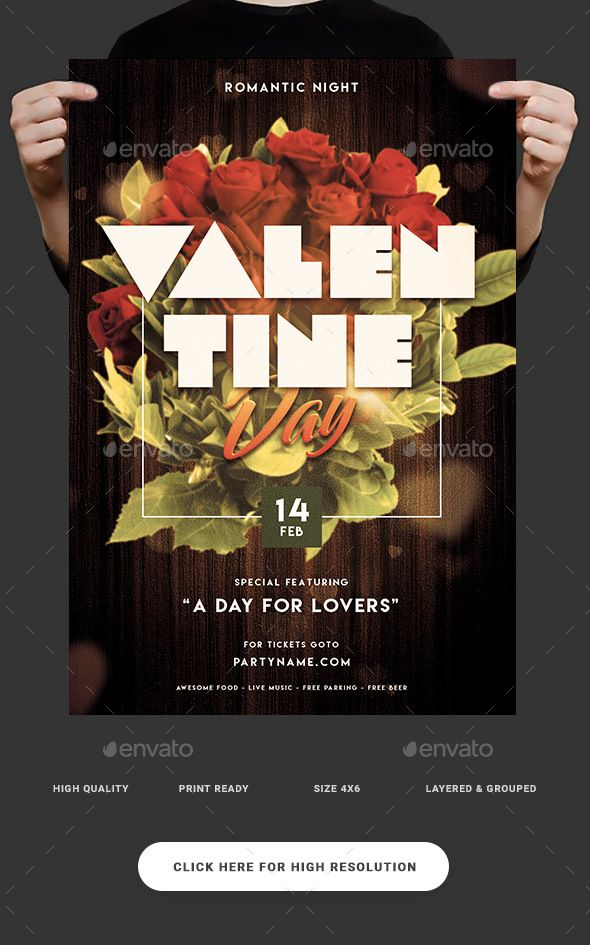 1081 Best Valentines Flyer Template Images On Pinterest Flyer