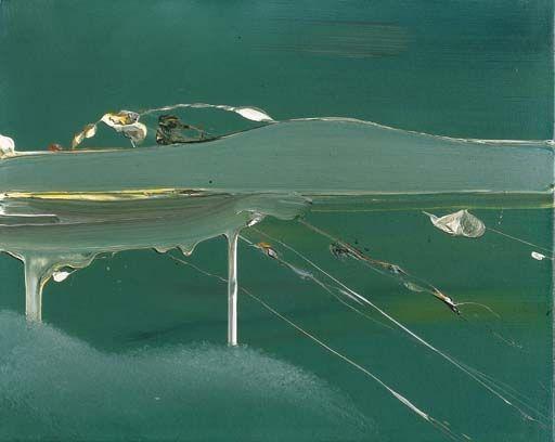 Gerhard Richter: untitled (green), 1968. (oil on canvas -- 40 cm x 50 cm)