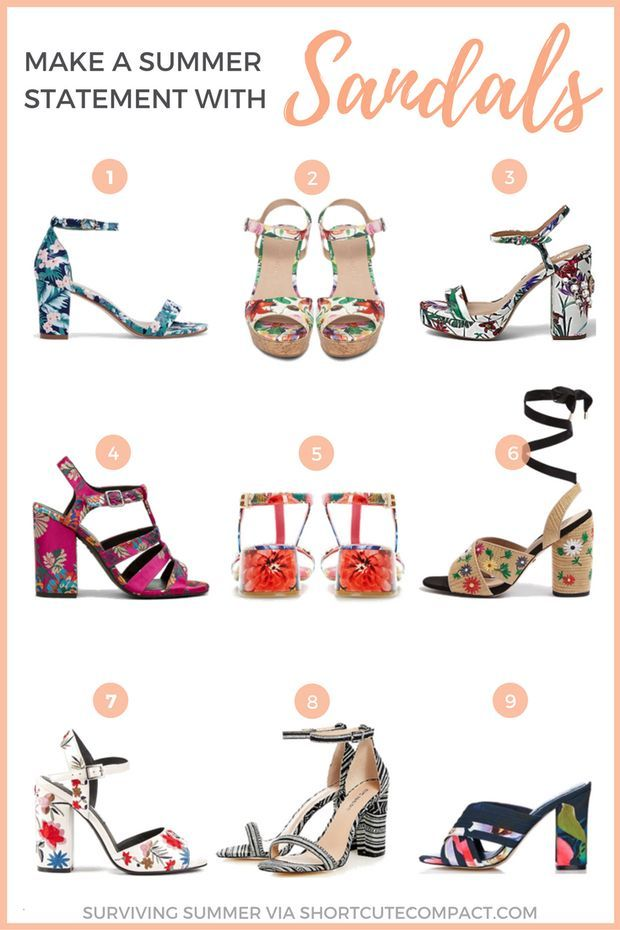 Surviving summer Sandals via shortcutecompact.com