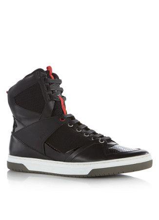 Trendy HUGO Trasto hoge sneaker zwart (Zwart) Sneakers van het merk HUGO voor Heren . Uitgevoerd in Meerdere kleuren gemaakt van Diverse materialen.