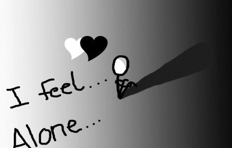 I Feel Alone Love Quotes Wallpaper