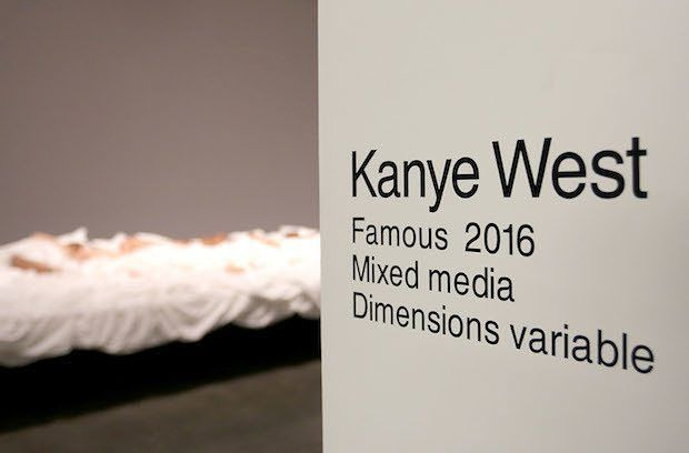 """Over the weekend a Kanye Robot and Kim Kardashian opened an exhibition at LA's Blum  Poe Gallery featuring the bed sculpture from the """"Famous"""" music video.  Check out the photos via the link in the bio.  #yeezy #art #kardashian #kanye #artwork #exhibition #fashion #style #artist #sculpture #taylerswift #trump #jenner #nude #sleep #bed #instagood #instadaily #picoftheday #photooftheday #like #follow"""
