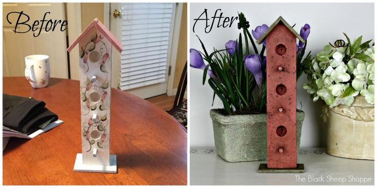 The Black Sheep Shoppe: Birdhouses Painted with Chalk Paint. Scandinavian Pink, Chateau Grey and Country Grey.
