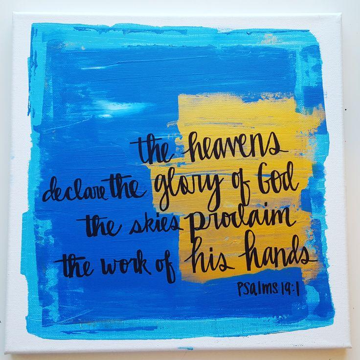 The Heavens declare Scripture Canvas Art by MichelleRabon on Etsy https://www.etsy.com/listing/250722203/the-heavens-declare-scripture-canvas-art