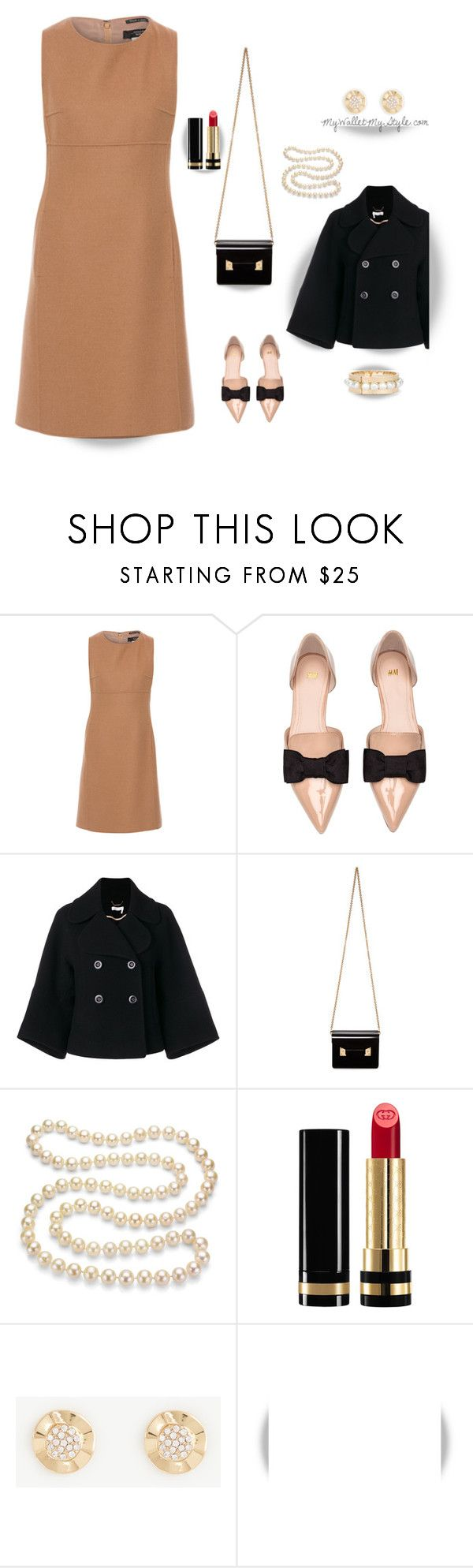 """""""Camel Wool"""" by mywalletmystyle ❤ liked on Polyvore featuring Weekend Max Mara, H&M, Chloé, Sophie Hulme, DaVonna, Gucci, Ann Taylor, WALL and Chico's"""