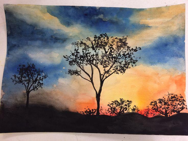 Watercolor landscape - Andrea Meyerholz
