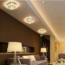 Modern Multi power led folyosón fény folyosó világítás kristály mennyezeti lámpa európai elegáns 90-260V Veranda fény mennyezeti lámpa (China)