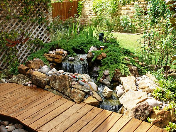 Pin by sharon rains on landscape waterfalls pinterest for Water garden construction