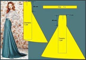 trumpet/mermaid skirt pattern
