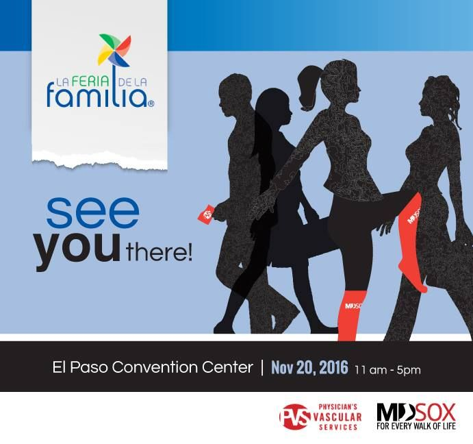 Physician's Vascular Services is proud to be a part of this year's Feria de la Familia! This Telemundo event will take place November 20th at the El Paso Convention Center. We hope to see you there! #FeriadelaFamilia #itsallgoodEP