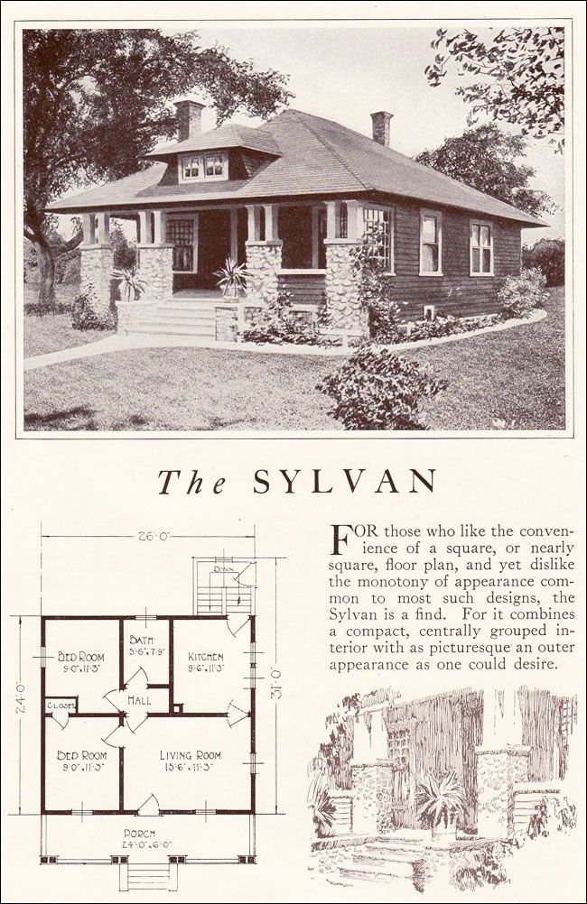 Lewis Manufacturing - Kit Homes - 1922 Sylvan - Small Bungalow